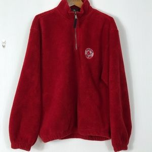 Antigua BOSTON Red Sox Fleece 1/4 Pullover Large